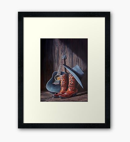 """Boots"" Framed Print"