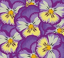 Purple Pansies by amymorton