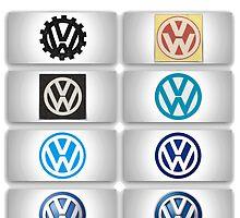 Volkswagen Logos by Tiltedgiraffes