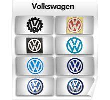 Volkswagen Logos Poster
