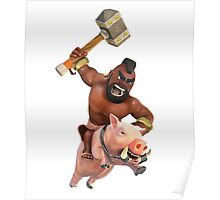 Hog Rider Real Clash of Clans Art Poster