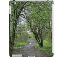 Landscape of path in wood iPad Case/Skin