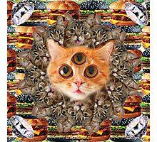 Mystical Cat Mandala Photographic Print