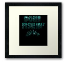 Gone Fishin' Foamposite  Framed Print
