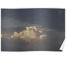 Sun Illuminating Clouds Poster
