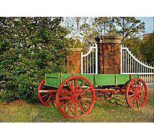 Painted Wagon Photographic Print
