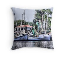 Georgetown Boats Throw Pillow