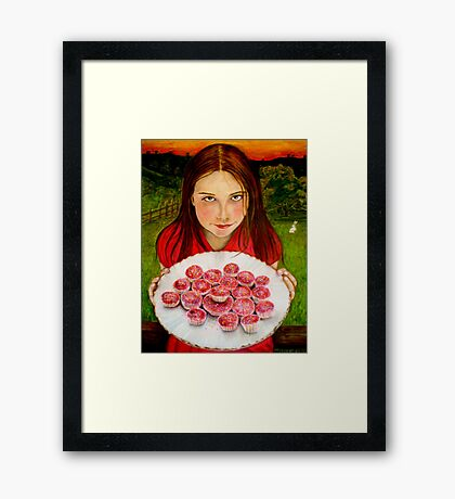 Alice's invitation Framed Print
