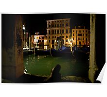 Together on the Grand Canale in Venice Poster