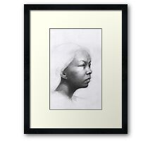 Portrait of a Chinese woman Framed Print