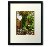 Southern Patio Framed Print