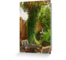 Southern Patio Greeting Card