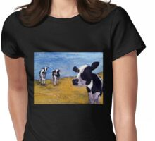 Cow World Womens Fitted T-Shirt