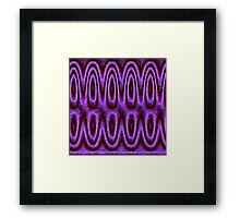 Pink neon Waves Framed Print