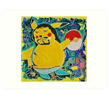Gangster Pikachu Art Print