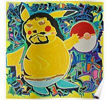 Gangster Pikachu Poster