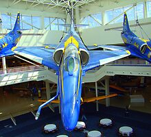 Blue Angels Jets by Wanda Raines