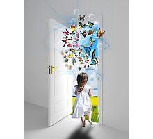 Open the door to your imagination Photographic Print