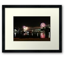 6_Fireworks Sydney Harbour New Years Eve 2008 Framed Print