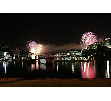 6_Fireworks Sydney Harbour New Years Eve 2008 Photographic Print