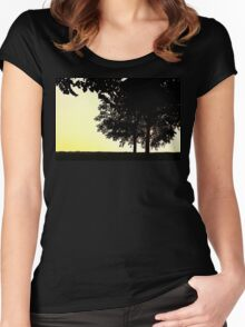 Backlit Trees Women's Fitted Scoop T-Shirt