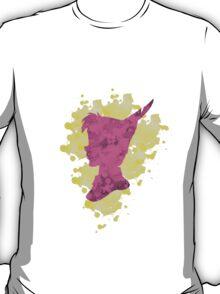 Peter Pan Watercolor Splash Design Pink Yellow T-Shirt