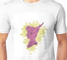 Peter Pan Watercolor Splash Design Pink Yellow Unisex T-Shirt