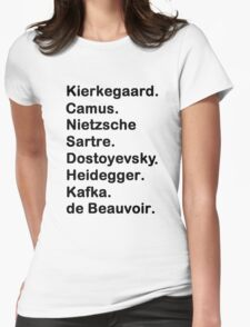 Existentialist Womens Fitted T-Shirt