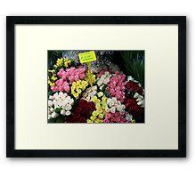 Market Price Framed Print