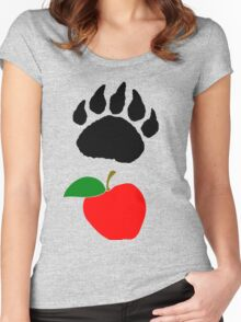 """Bear"" Fruit Women's Fitted Scoop T-Shirt"