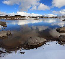 Rocky Valley Pondage, Falls Creek, Australia by Michael Boniwell
