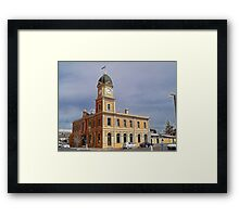 Moonta Town Hall Framed Print