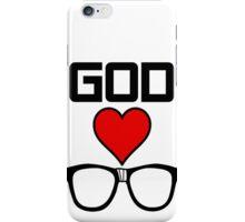 God Loves Nerds iPhone Case/Skin