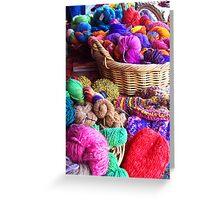Coloured wool [C5012] Greeting Card
