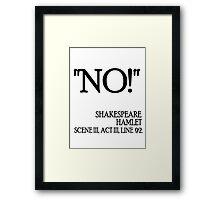 No Framed Print