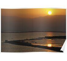 Sun rise over the Dead Sea Poster