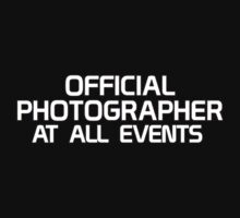 Official Photographer - At All Events by Stephen Mitchell