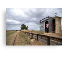 When's the train coming? Canvas Print