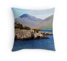 Wast Water and Great Gable Throw Pillow