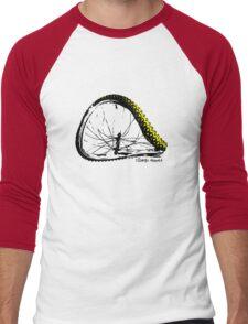 twisted wheels: bent wheel Men's Baseball ¾ T-Shirt
