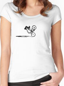 twisted wheels: crash Women's Fitted Scoop T-Shirt