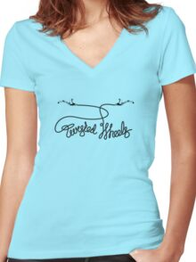 twisted wheels: brake cable 2 Women's Fitted V-Neck T-Shirt