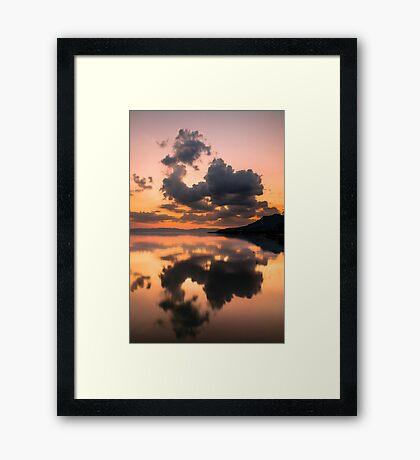 Cloud Mirror on Lake Chapala Framed Print