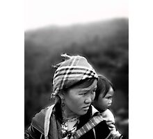 Black Mong and Baby Photographic Print