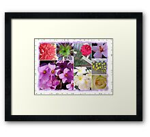 Flowers Galore Collage Framed Print