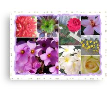 Flowers Galore Collage Canvas Print