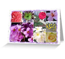 Flowers Galore Collage Greeting Card
