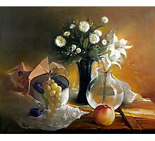 Still life with peach Photographic Print