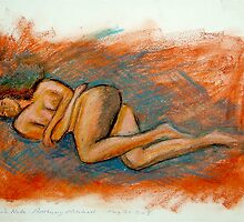 Female Nude - Oil Pastel - Anthony Mitchell by Anthony Mitchell