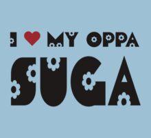 I HEART MY OPPA SUGA - BLUE Kids Clothes